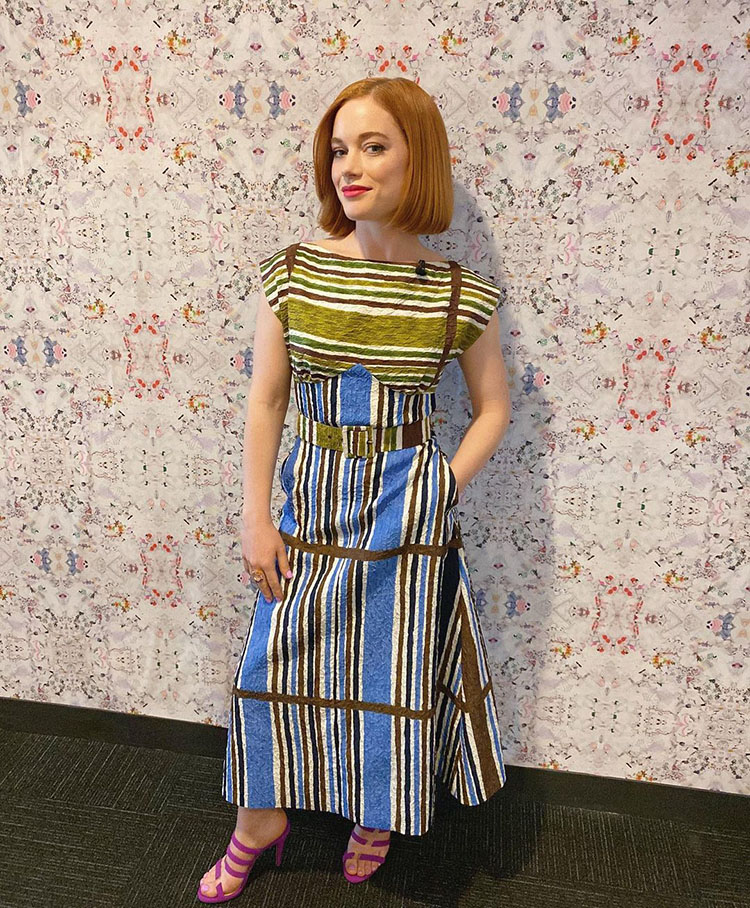 Jane Levy Wore Duro Olowu On The Kelly Clarkson Show