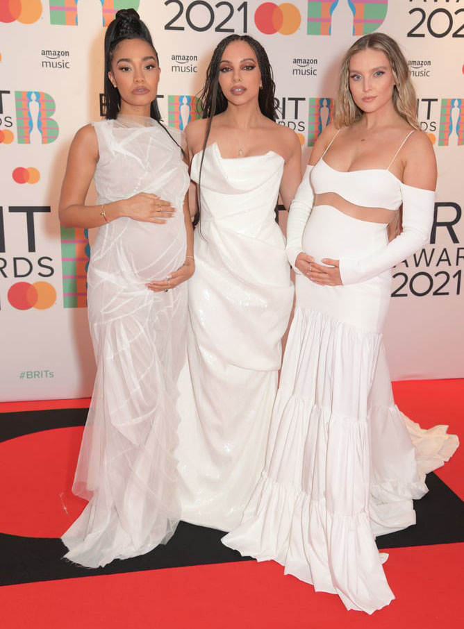 Little Mix Coordinate In All White For The BRIT Awards 2021