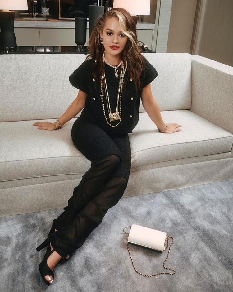 Rita Ora Wore Chanel To The Chanel No.5 100th Anniversary Celebration