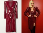 Katy Perry's Saint Laurent Latex Wrap Dress
