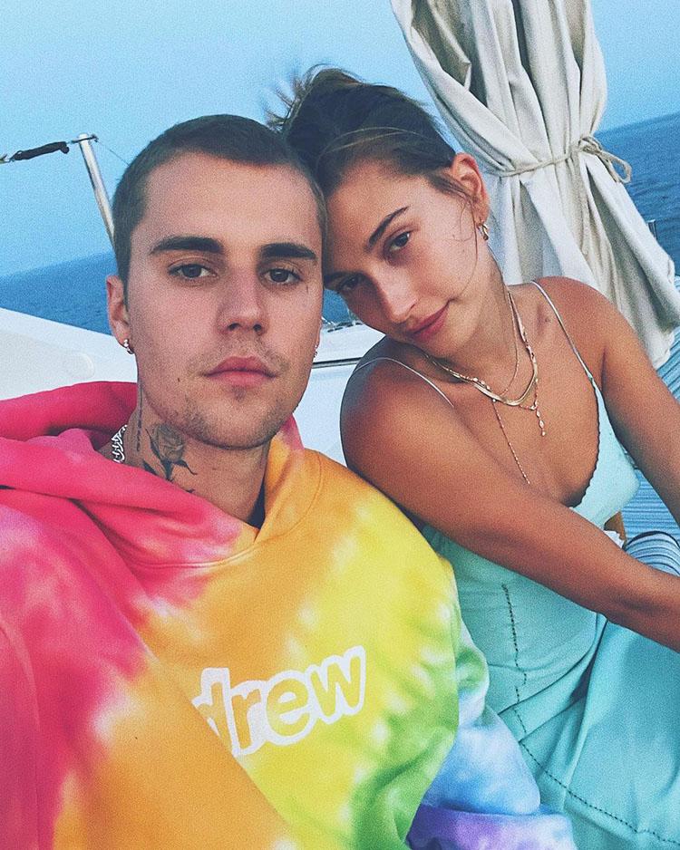 Hailey Bieber Wore Alberta Ferretti On Vacation In Mykonos