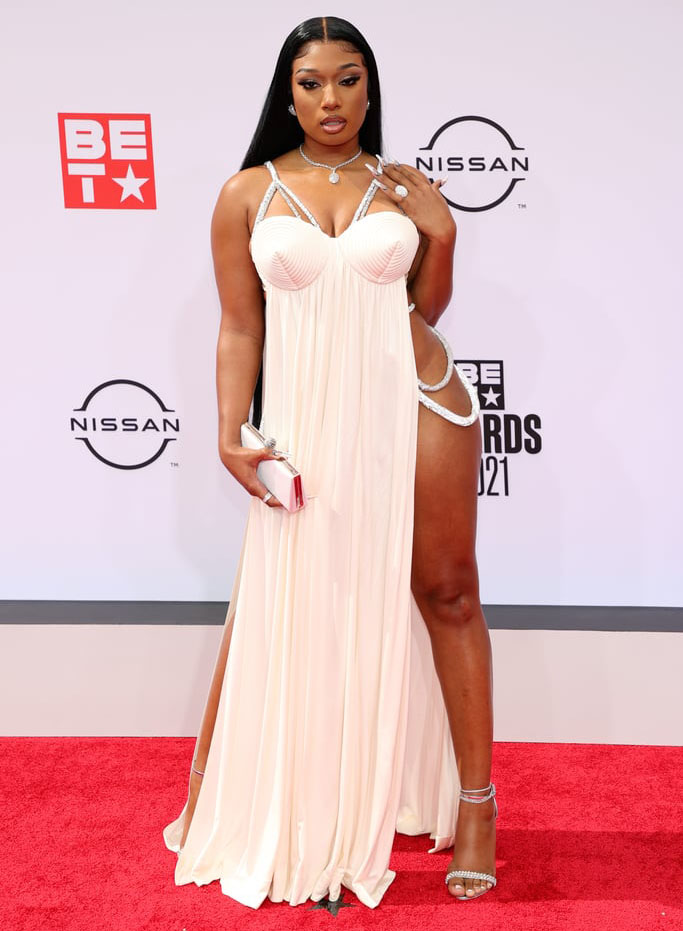 Megan Thee Stallion Wore Jean Paul Gaultier To The 2021 BET Awards