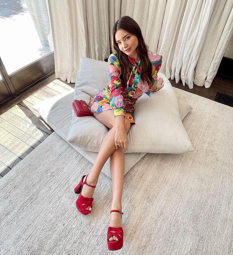 Miranda Kerr Wore Gucci For Dinner With Kourtney Kardashian