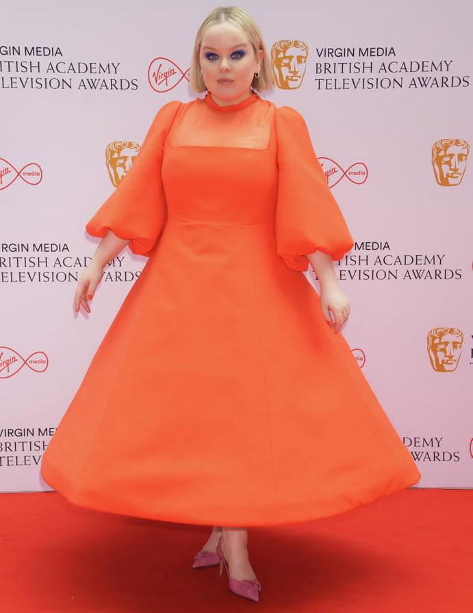 Nicola Coughlan Wore Valentino To The 2021 BAFTA TV Awards