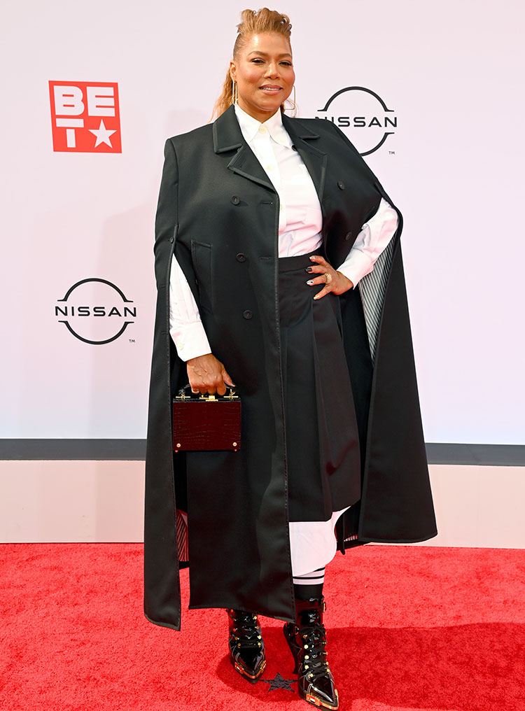 Queen Latifah Wore Thom Browne & Christian Siriano To The 2021 BET Awards