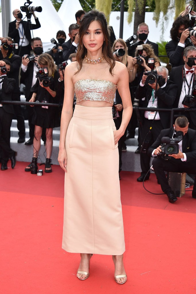 Gemma Chan Wore Valentino Haute Couture To 'Les Intranquilles (The Restless)' Cannes Film Festival Premiere