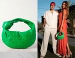 Hailey Bieber's Bottega Veneta Jodie Mini Green Bag