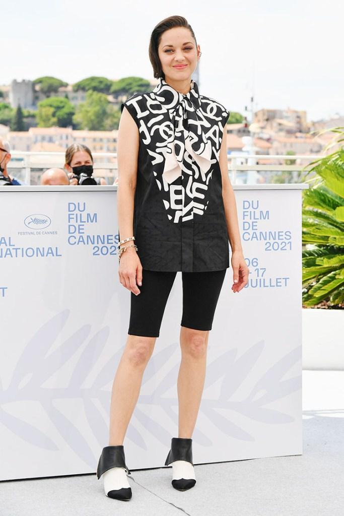 Marion Cotillard Wore Chanel To The 'Annette' Cannes Film Festival Photocall