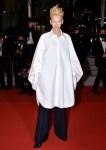 Tilda Swinton Wore Schiaparelli  To 'Les Olympiades (Paris 13th District)' Cannes Film Festival Premiere