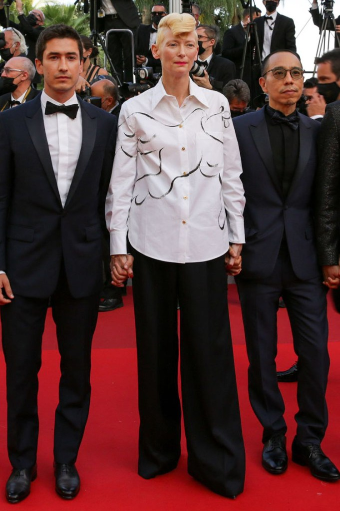 Tilda Swinton Wore Schiaparelli To The 'OSS 117: From Africa With Love' Cannes Film Festival Premiere