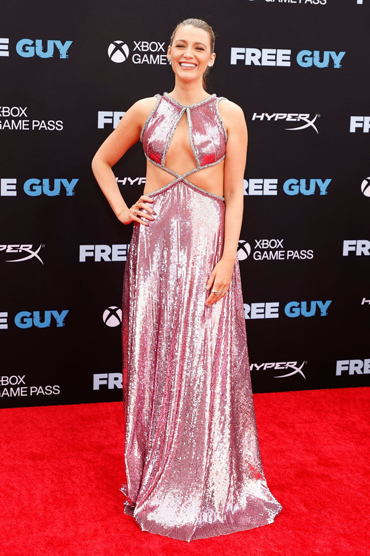 Blake Lively Wore Prabal Gurung To The 'Free Guy' New York Premiere