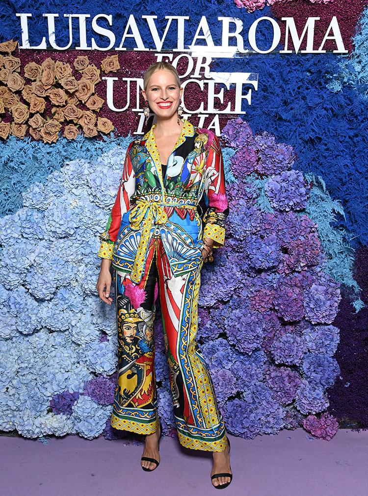 Karolína Kurková Wore Dolce & Gabbana To The LuisaViaRoma for UNICEF Event