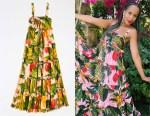 Kerry Washington's Farm Rio Cocoa Forest Maxi Dress