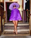 Lady Gaga Wore Valentino Haute Couture Departing Radio City Music Hall