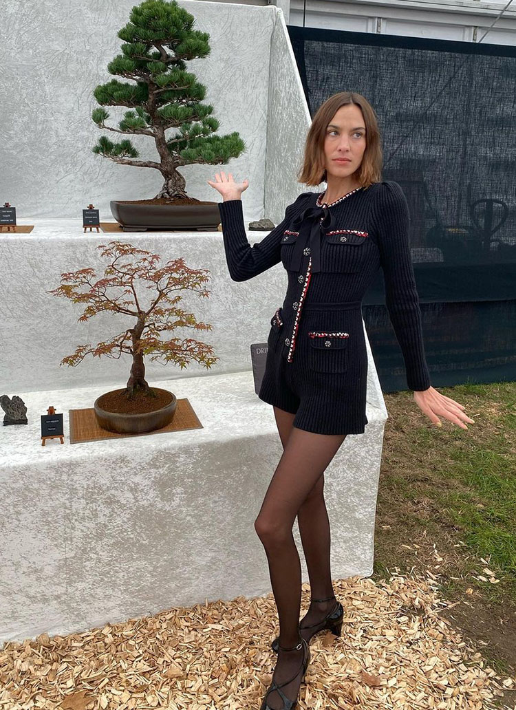Alexa Chung Wore Self-Portrait To The RHS Chelsea Flower Show