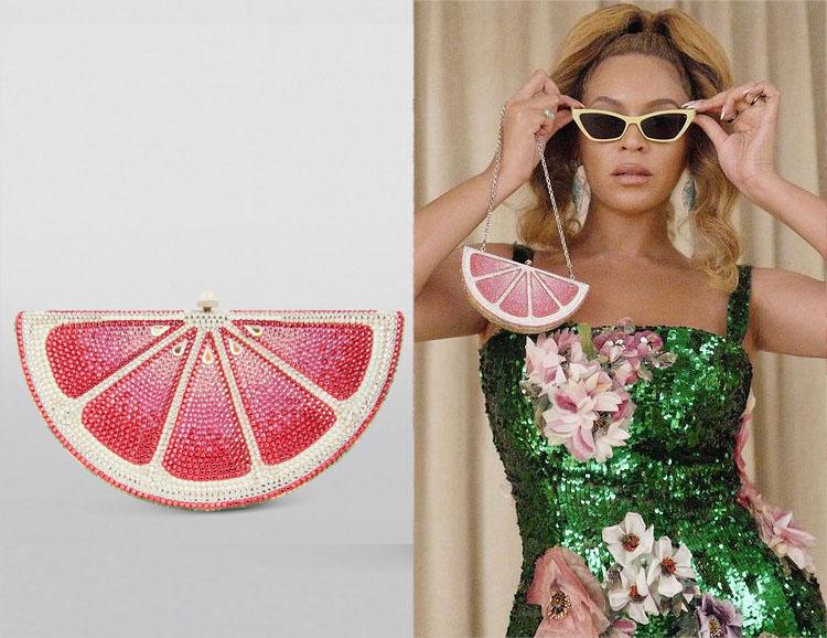 Beyonce's Judith Leiber Pink Lemon Slice Clutch Bag