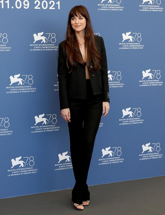 Dakota Johnson Wore Gucci To The 'The Lost Daughter' Venice Film Festival Photocall