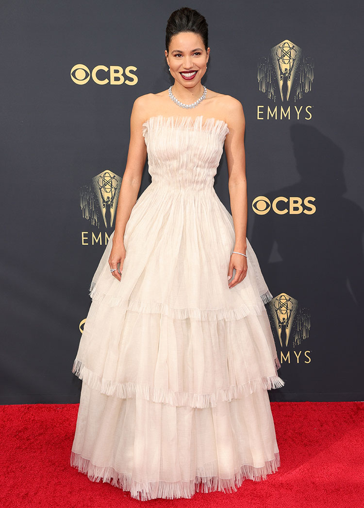 Jurnee Smollett Wore Dior Haute Couture To The 2021 Emmy Awards