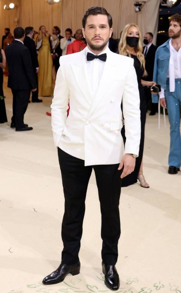Kit Harington in Saint Laurent - 2021 Met Gala