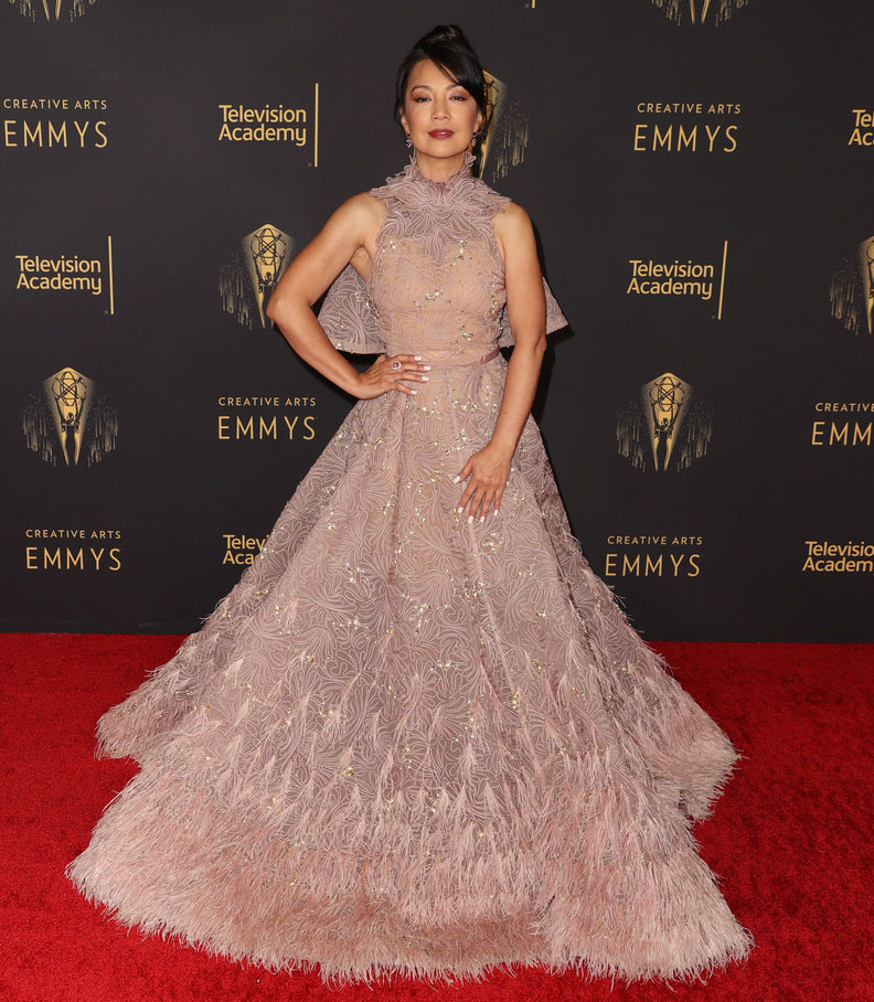 Ming-Na Wen in Sebastian GunawanSignature - 2021 Creative Arts Emmys