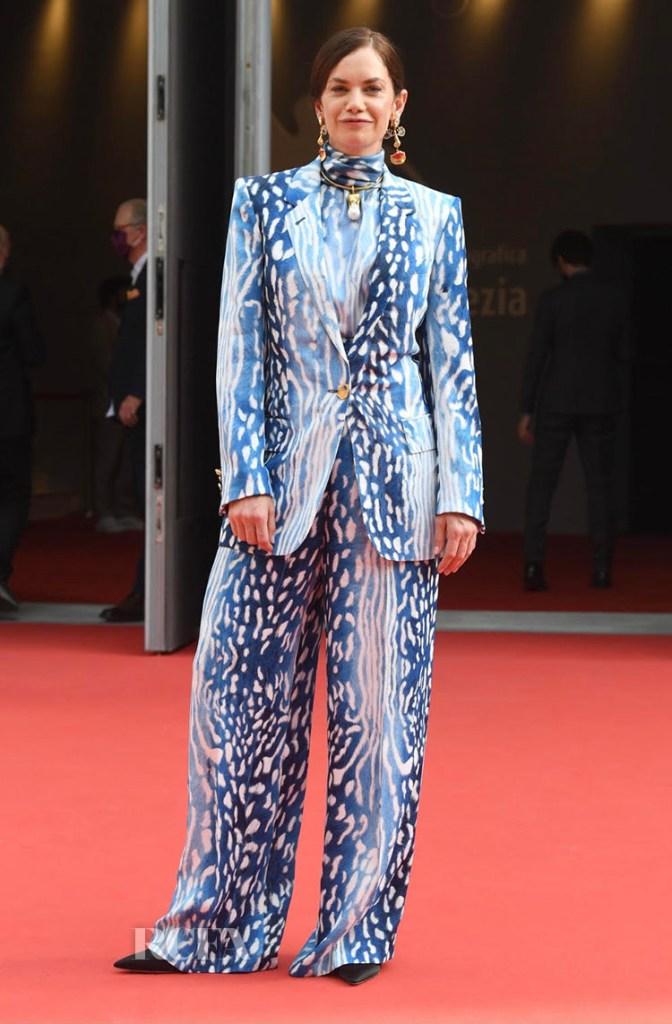 Ruth Wilson Wore Schiaparelli For The 'True Things' Venice Film Festival Screening