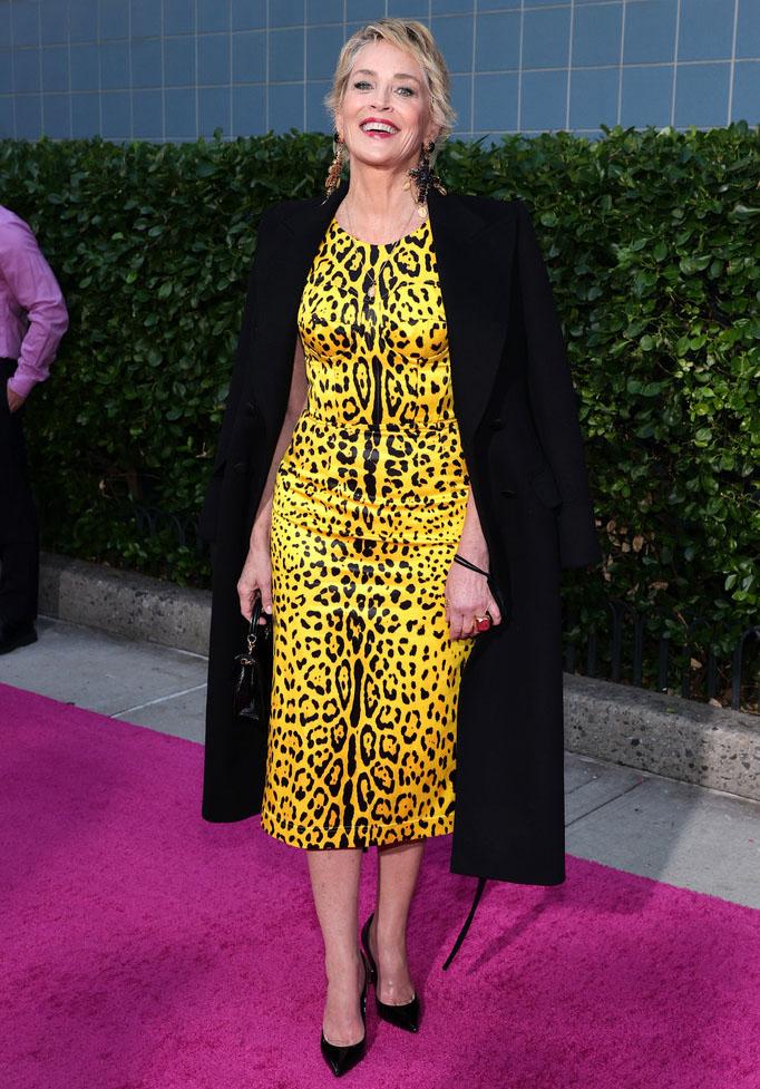 Sharon Stone Wore Dolce & Gabbana To 'The Eyes Of Tammy Faye' New York Premiere