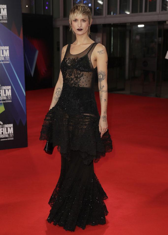 Agathe Rousselle Wore Louis Vuitton To The 'Titane' London Film Festival Premiere