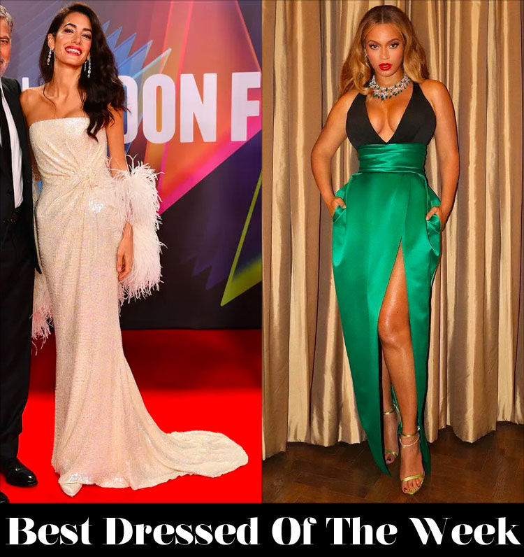Best Dressed Of The Week - Amal Clooney In 16Arlington &  Beyonce In Alexandre Vauthier Haute Couture