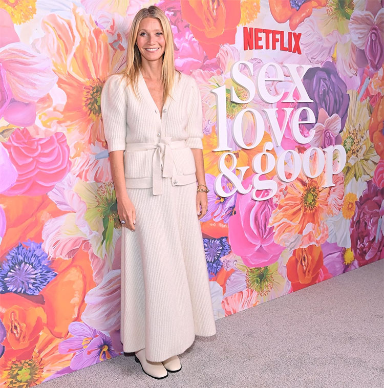 Gwyneth Paltrow Wore Adam Lippes To The Sex, Love & goop Special Screening