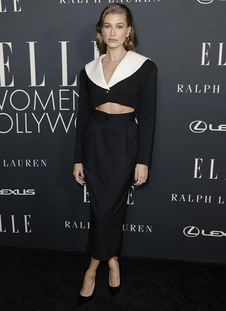Hailey Bieber Wore Miu Miu To ELLE's Women In Hollywood Celebration