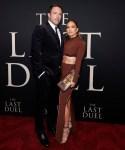 Jennifer Lopez Wore Herve Leger & Ben Affleck Wore Ralph Lauren Purple Label To 'The Last Duel' New York Premiere