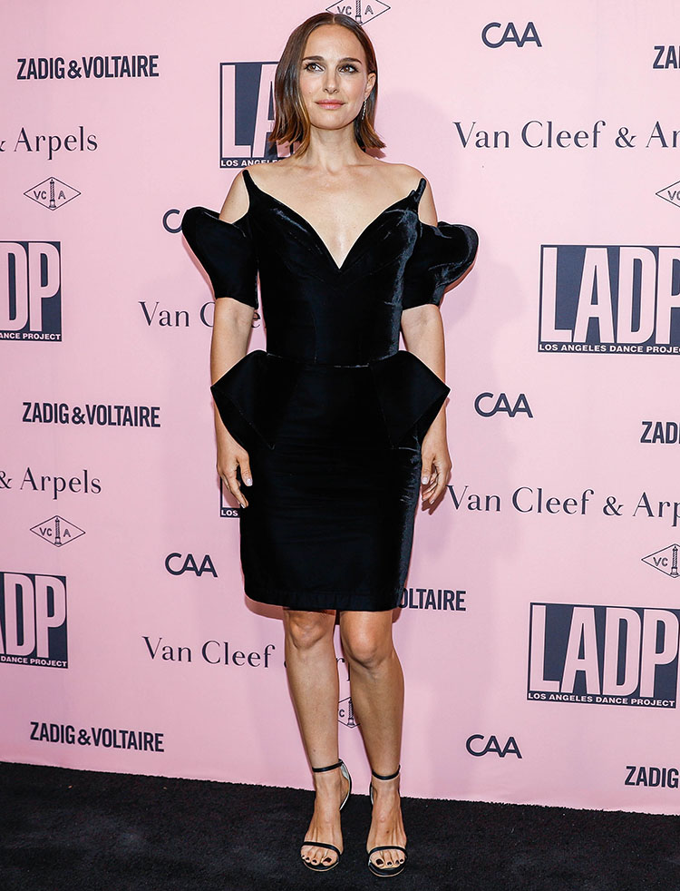 Natalie Portman Wore Vintage Mugler Haute Couture To The L.A. Dance Project Annual Gala