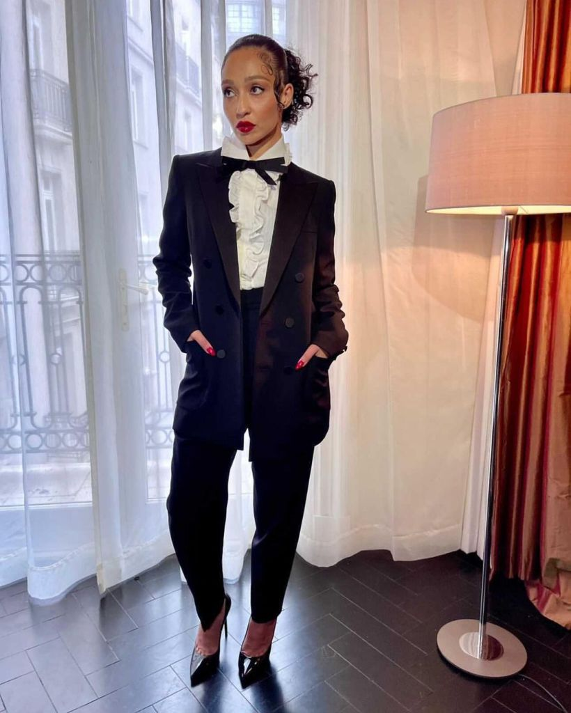 Ruth Negga Promotes 'Passing' Wearing Saint Laurent