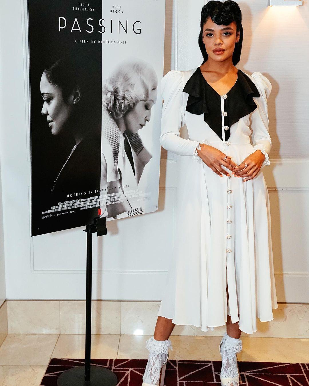 Tessa Thompson Wore Rodarte To The 'Passing' LA Screening