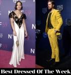 Best Dressed Of The Week - Tessa Thompson In Rodarte & Ryan Gosling In Dzojchen