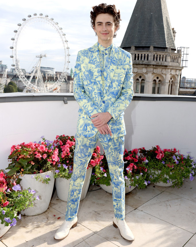 Timothée Chalamet Wore Stella McCartney To The 'Dune' London Photocall