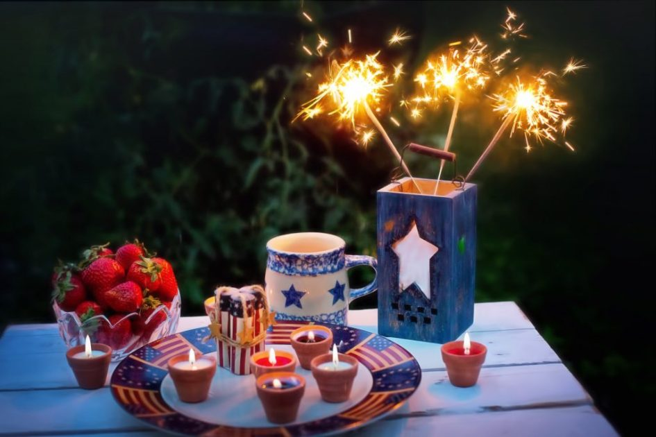 family party idea: sparklers and strawberries