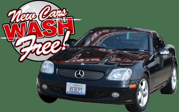 new cars wash free