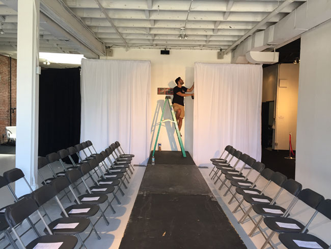 Fashion Show in Hollywood Runway Rental  Setup