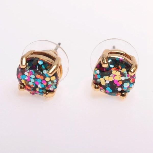 Kate Spade 12k Glitter Studs Earrings - Rainbow