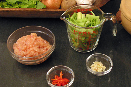Chicken and Celery Ingredients