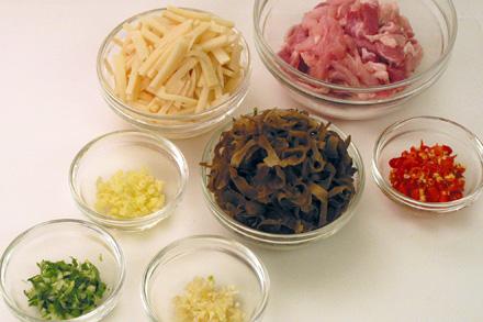 YuXiang Stir-fry Pork Ingredients