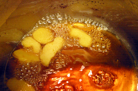 Making Ginger Syrup