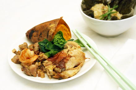 Beggar's Chicken with Side Dishes
