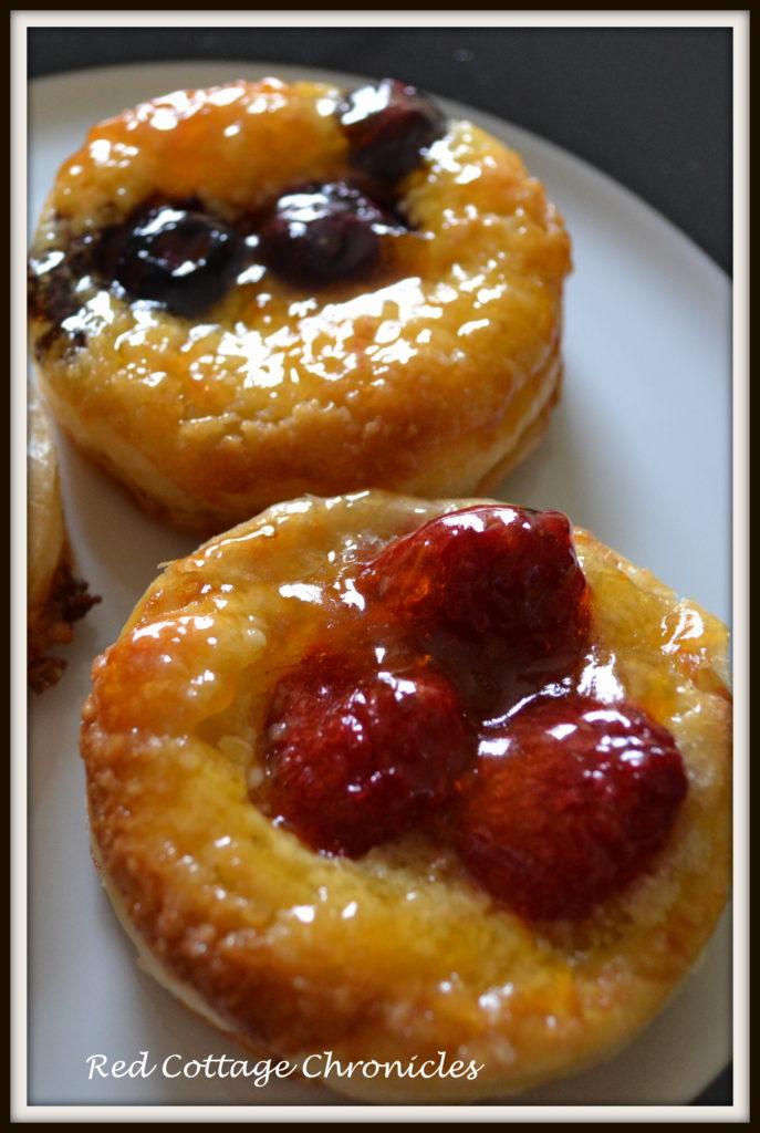 Puff pastry fruit tarts