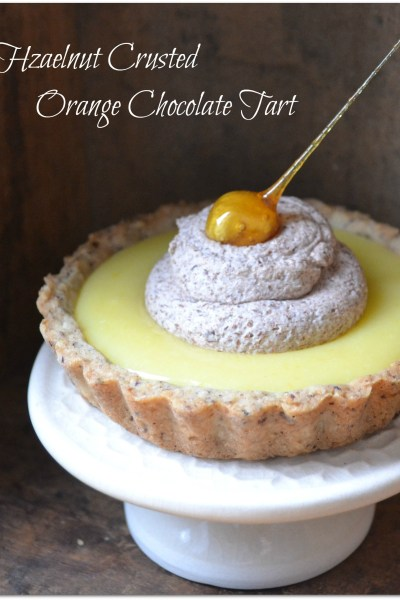Hazelnut Crusted Orange Chocolate Tart