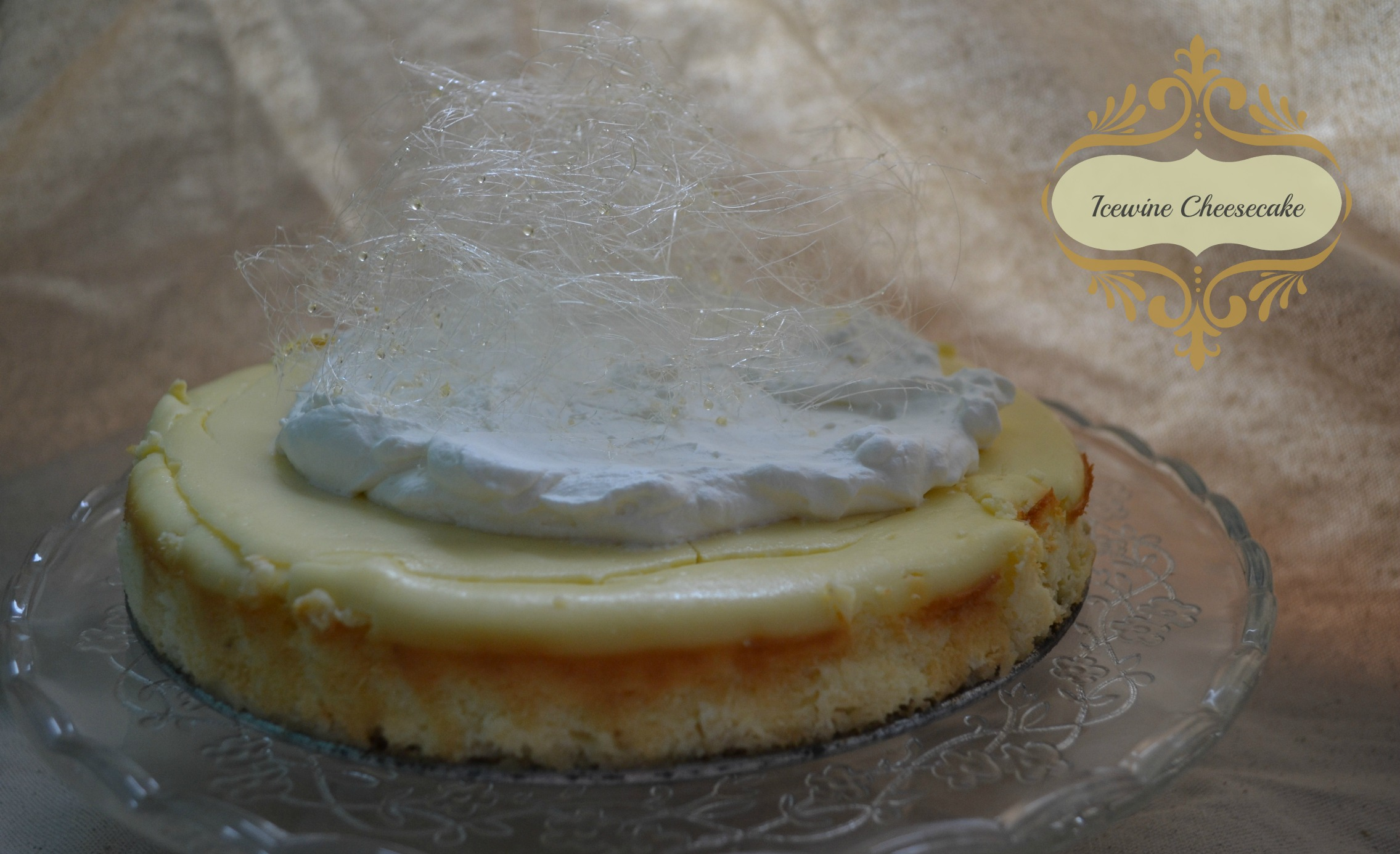 Icewine Cheesecake Topped With Sparkly Spun Sugar