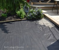 Backyard Makeover - Pea Gravel Patio - Red Cottage Chronicles