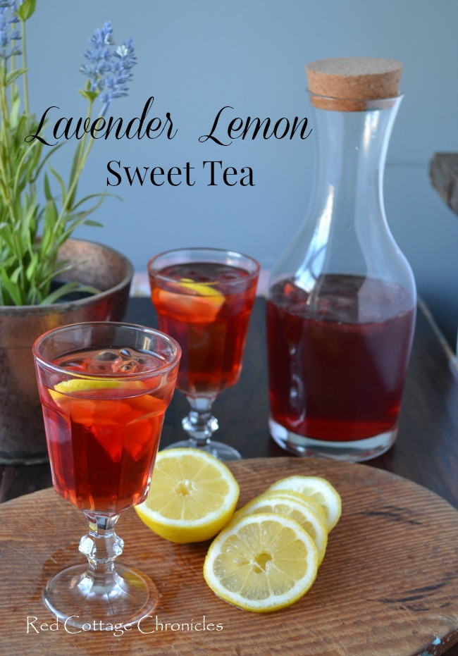 Lavender Lemon Sweet Tea