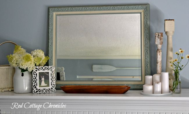 white mantel ideas